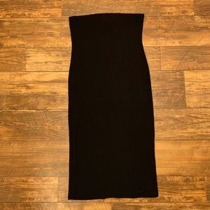 Forever21 Black Strapless Dress Size L